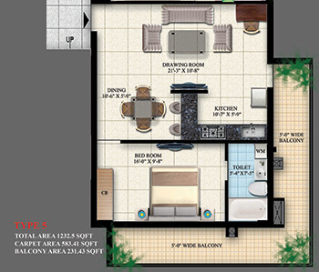 1 bhk flats in ghaziabad